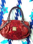 Accessory handbag fine fashion wholesale supply. Red imitation leather handbag with sequin design