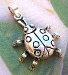 Womens silver jewelry distributor supplies Cute ladybug solid silver pendant