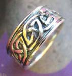 Wholesale religious fashion jewelry shopping. Thick sterling silver band with celtic petra ring design
