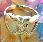 Love fashion silver jewelry distribution outlet. Cross over double heart theme, sterling silver ring