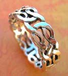 Religion style jewelry warehouse supplies Woven celtic, knot designed sterling silver ring