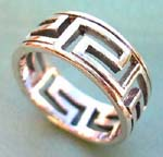 Designer inspired wholesale silver ring jewelry store. Egyptian style designed ring with sterling silver double band